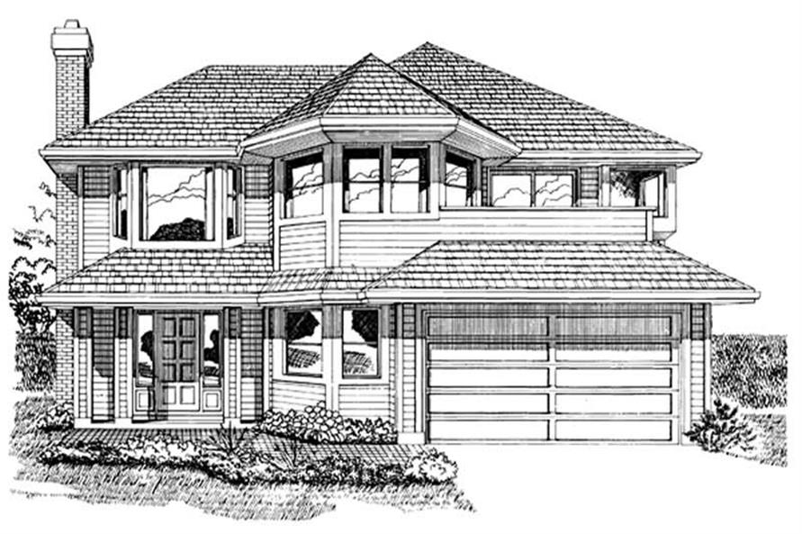 Home Plan Rendering of this 3-Bedroom,1318 Sq Ft Plan -167-1251