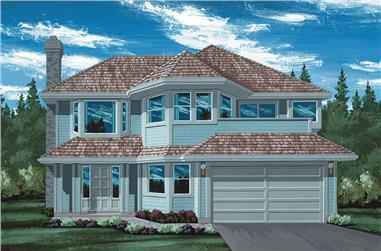 3-Bedroom, 1318 Sq Ft Contemporary House Plan - 167-1251 - Front Exterior