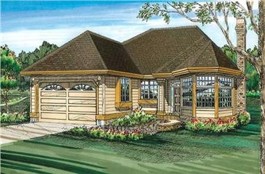 3-Bedroom, 1622 Sq Ft Ranch House Plan - 167-1253 - Front Exterior