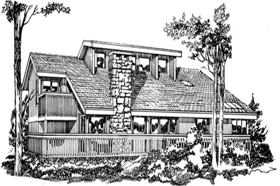 Main image for house plan # 7086