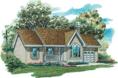 3-Bedroom, 1360 Sq Ft Country House Plan - 167-1255 - Front Exterior