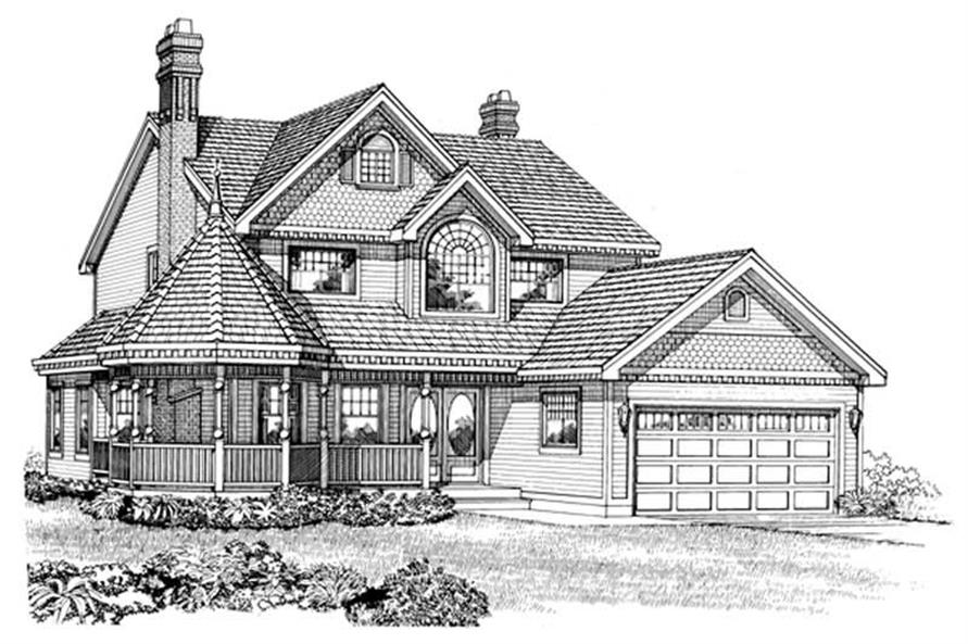4-Bedroom, 2258 Sq Ft Country Home Plan - 167-1256 - Main Exterior