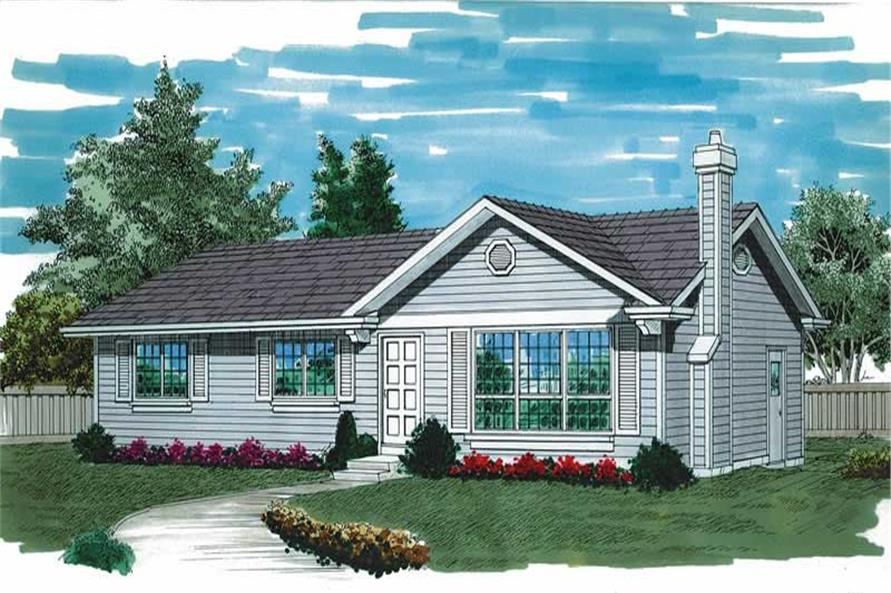 3-Bedroom, 1196 Sq Ft Ranch Home Plan - 167-1260 - Main Exterior