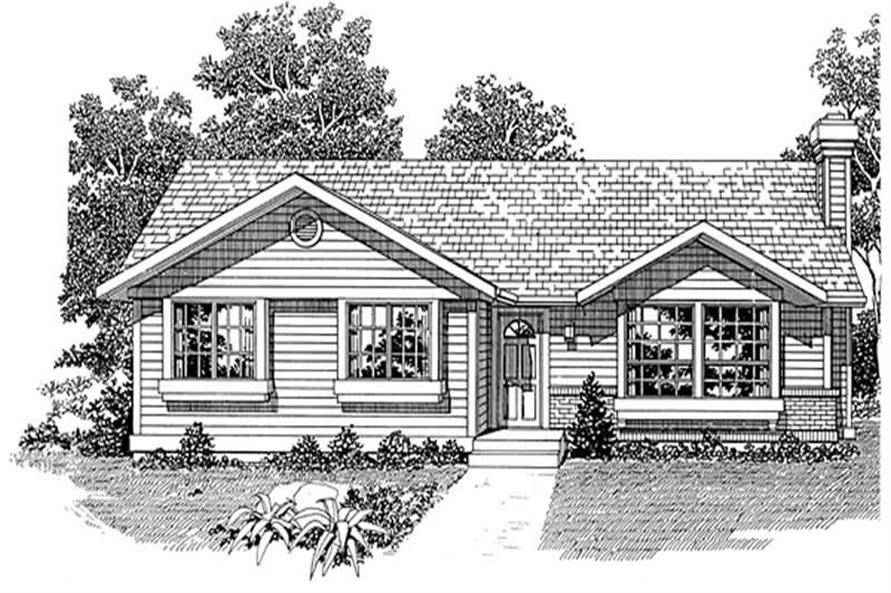 Home Plan Rendering of this 3-Bedroom,1197 Sq Ft Plan -167-1261