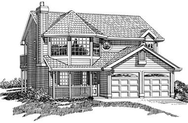 3-Bedroom, 1357 Sq Ft Country Home Plan - 167-1263 - Main Exterior