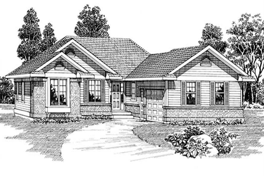 3-Bedroom, 1295 Sq Ft Ranch Home Plan - 167-1264 - Main Exterior