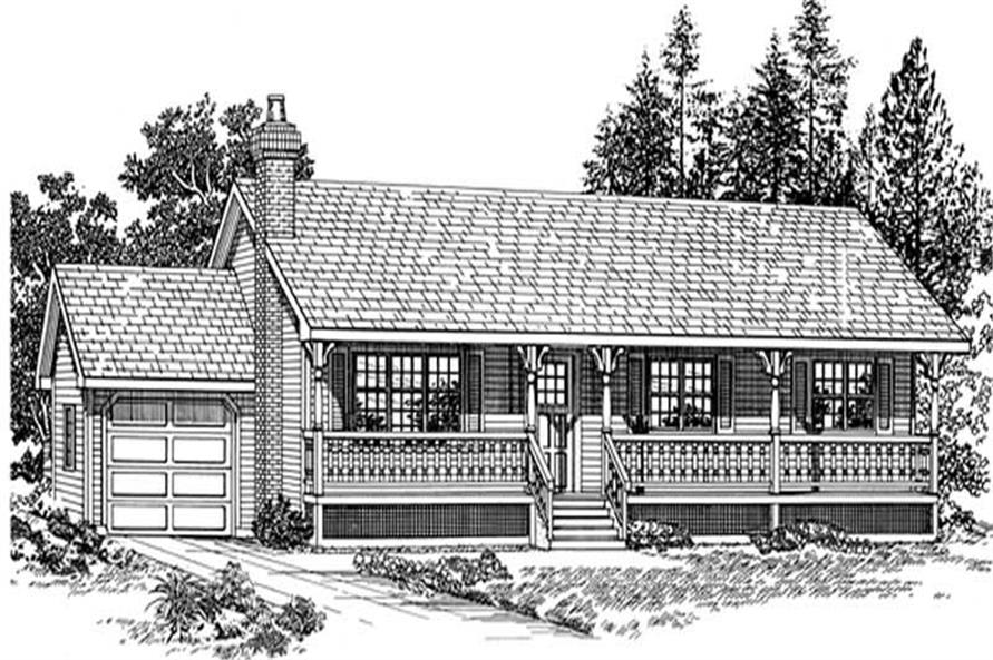 3-Bedroom, 1456 Sq Ft Ranch Home Plan - 167-1266 - Main Exterior