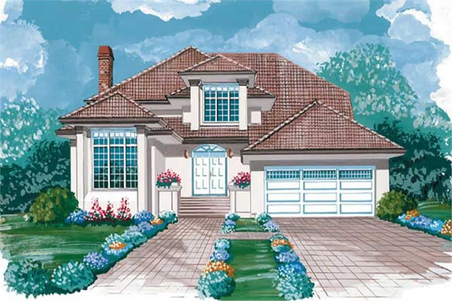 3-Bedroom, 2538 Sq Ft Prairie House Plan - 167-1267 - Front Exterior