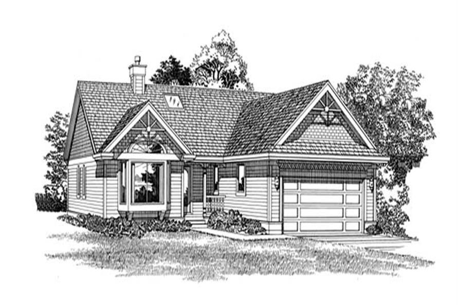 Main image for house plan # 7165