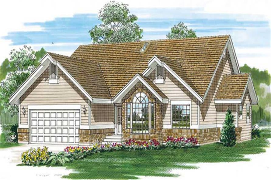 Main image for house plan # 7166