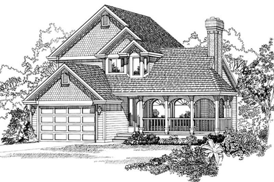 3-Bedroom, 1716 Sq Ft Country Home Plan - 167-1270 - Main Exterior