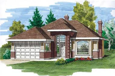 3-Bedroom, 1794 Sq Ft Contemporary Home Plan - 167-1273 - Main Exterior