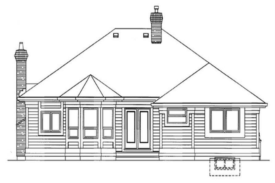 Home Plan Rear Elevation of this 3-Bedroom,1794 Sq Ft Plan -167-1273