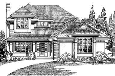 3-Bedroom, 2277 Sq Ft Southwest House Plan - 167-1278 - Front Exterior