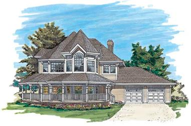 4-Bedroom, 2459 Sq Ft Country House Plan - 167-1279 - Front Exterior