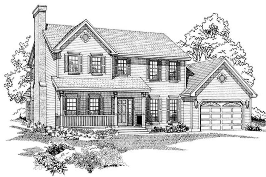 Main image for house plan # 7208