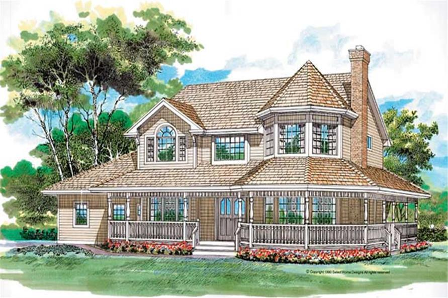 4-Bedroom, 2516 Sq Ft Country House Plan - 167-1281 - Front Exterior