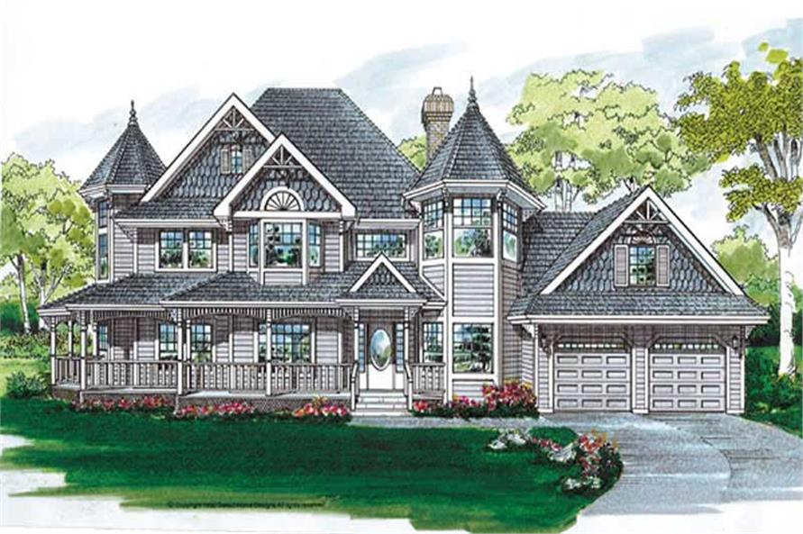 4-Bedroom, 2632 Sq Ft Country Home Plan - 167-1282 - Main Exterior