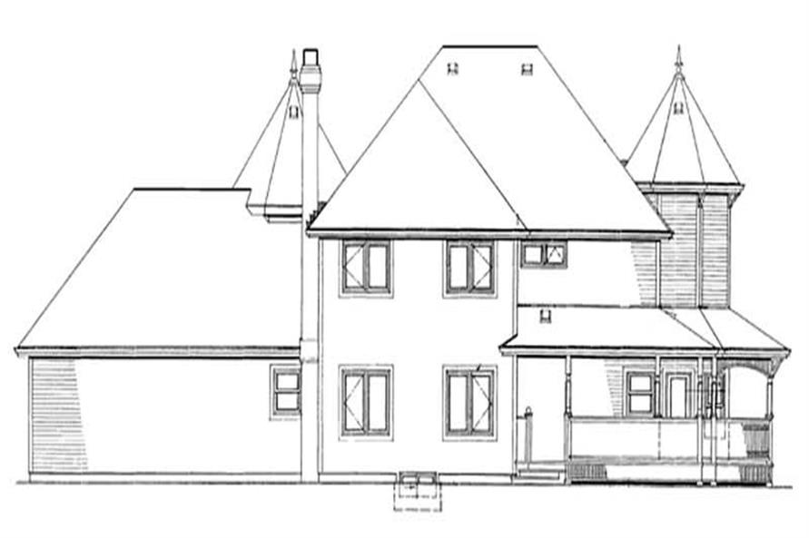 Home Plan Rear Elevation of this 4-Bedroom,2632 Sq Ft Plan -167-1282