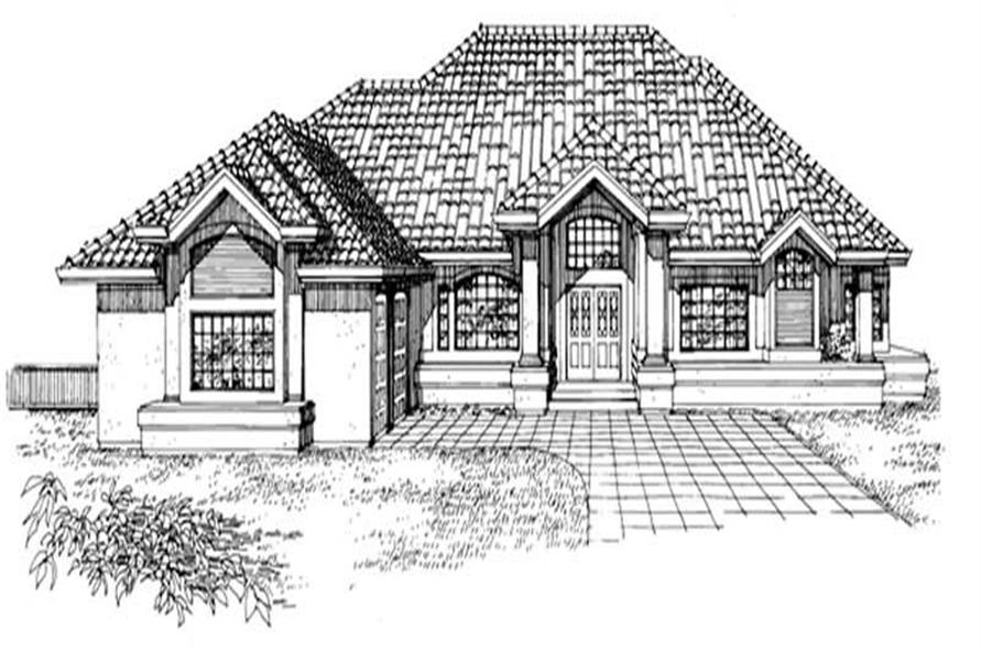2-Bedroom, 2761 Sq Ft Southwest Home Plan - 167-1283 - Main Exterior