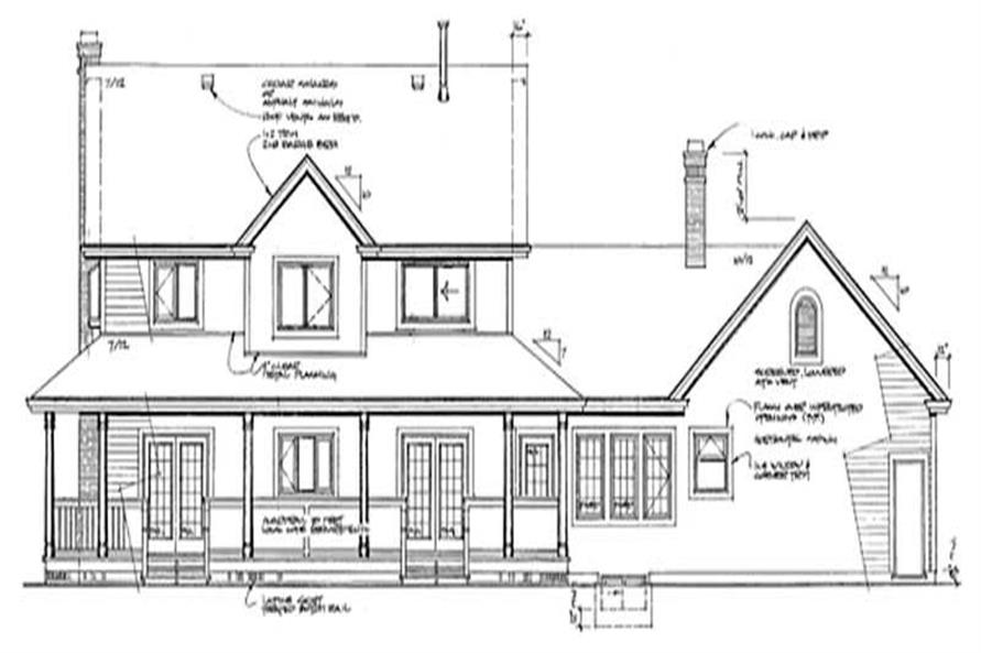 Home Plan Rear Elevation of this 4-Bedroom,2797 Sq Ft Plan -167-1284