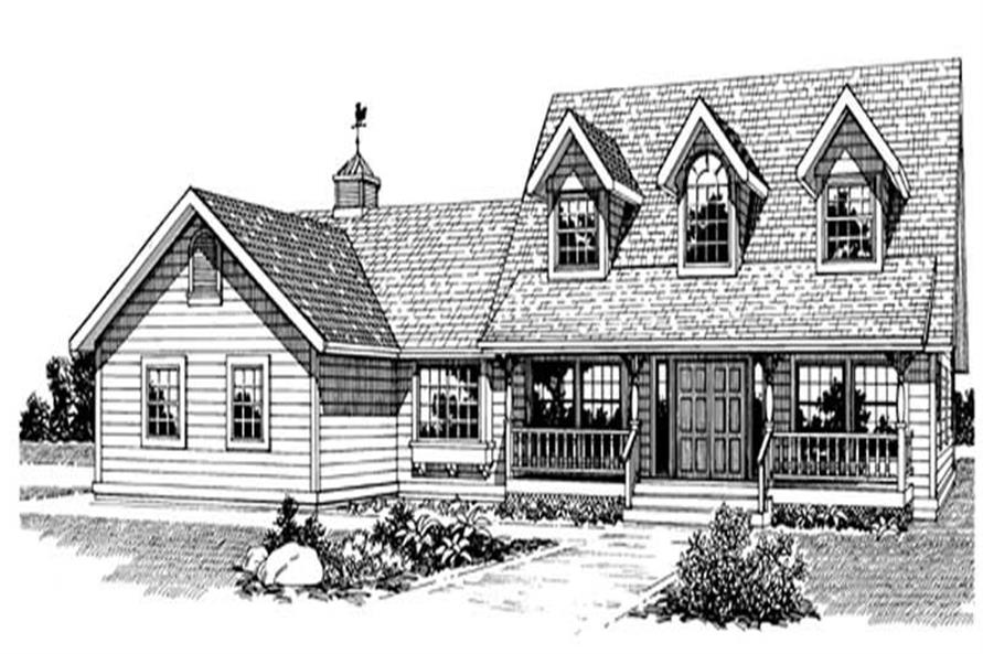 3-Bedroom, 2264 Sq Ft Country House Plan - 167-1285 - Front Exterior