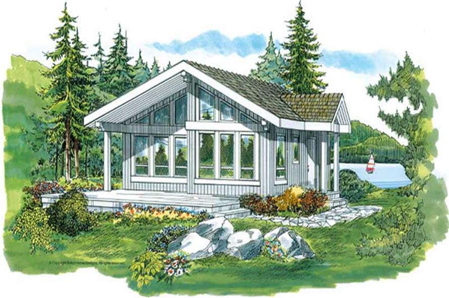 2-Bedroom, 817 Sq Ft Coastal Home Plan - 167-1286 - Main Exterior