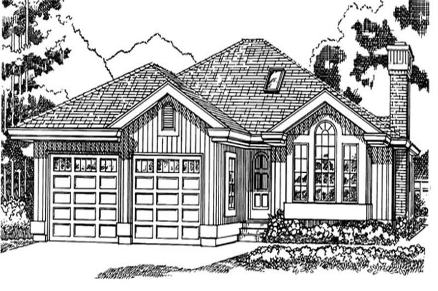 3-Bedroom, 1424 Sq Ft Small House Plans - 167-1289 - Main Exterior
