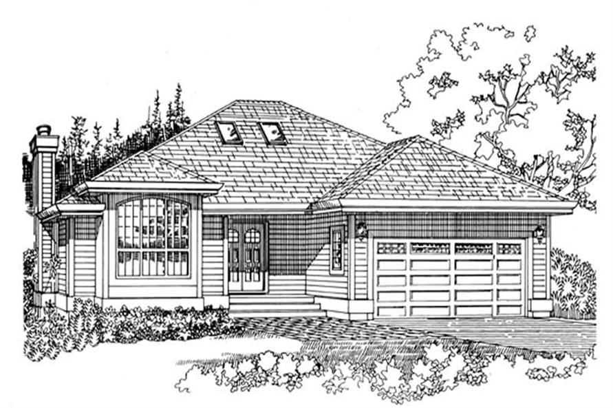 3-Bedroom, 1911 Sq Ft Ranch House Plan - 167-1290 - Front Exterior