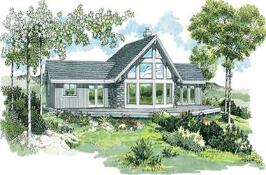 3-Bedroom, 1495 Sq Ft Small House Plans - 167-1293 - Front Exterior