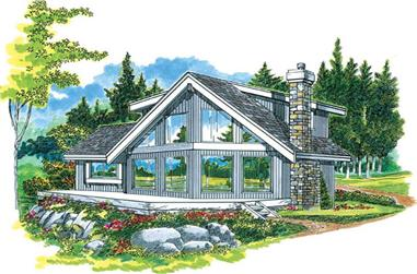 Front elevation of Small House Plans home (ThePlanCollection: House Plan #167-1294)