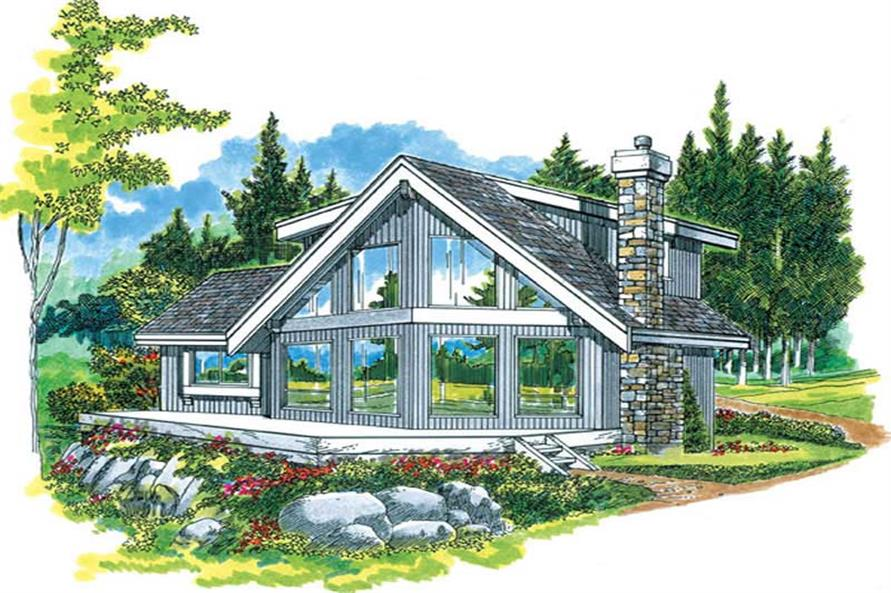 3-Bedroom, 1498 Sq Ft Small House Plans - 167-1294 - Front Exterior