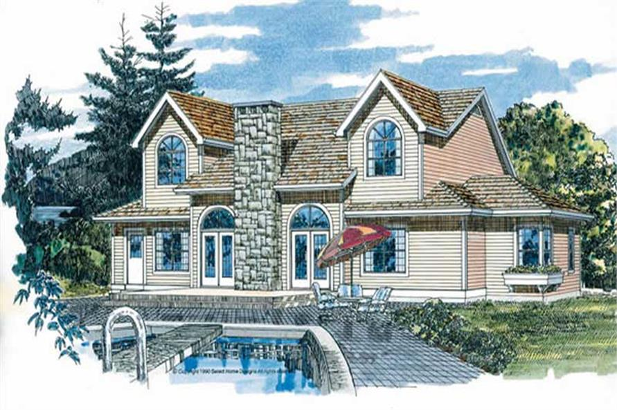 Home Plan Rear Elevation of this 4-Bedroom,3141 Sq Ft Plan -167-1295