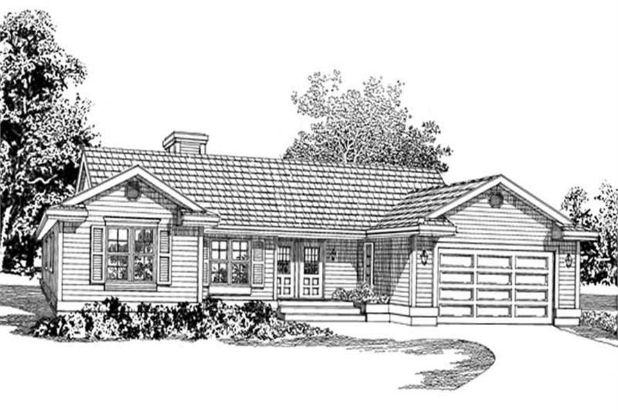 3-Bedroom, 1666 Sq Ft Ranch Home Plan - 167-1297 - Main Exterior