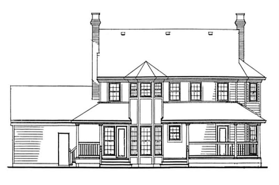 Home Plan Rear Elevation of this 4-Bedroom,2582 Sq Ft Plan -167-1299