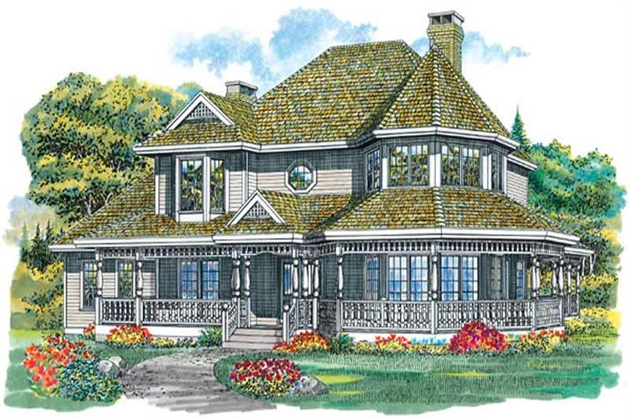 4-Bedroom, 2750 Sq Ft Country House Plan - 167-1300 - Front Exterior