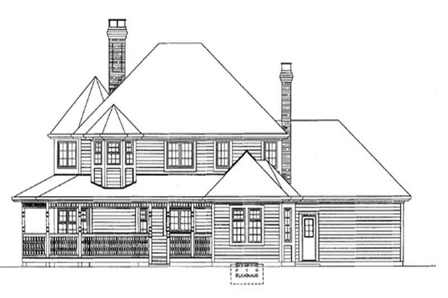 Home Plan Rear Elevation of this 4-Bedroom,2750 Sq Ft Plan -167-1300