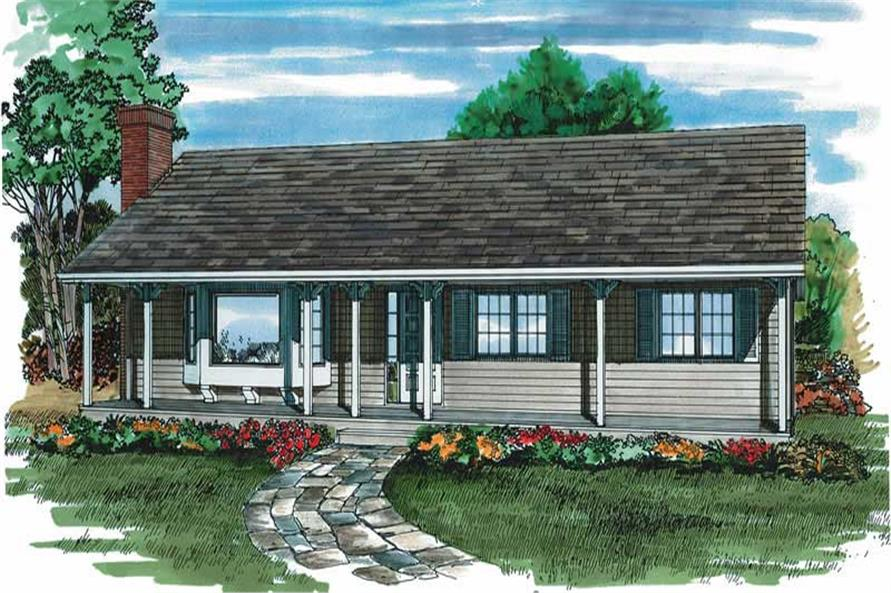3-Bedroom, 1254 Sq Ft Ranch House Plan - 167-1302 - Front Exterior