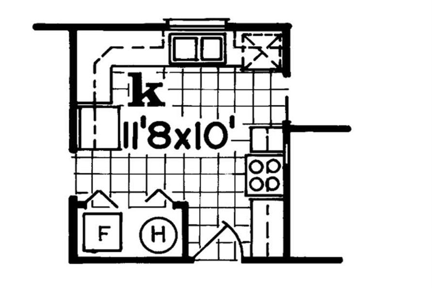 Alternate Kitchen of this 3-Bedroom,1254 Sq Ft Plan -1254