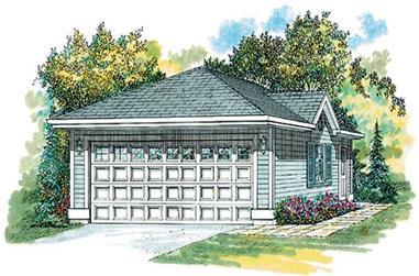 0-Bedroom, 50 Sq Ft Garage Home Plan - 167-1304 - Main Exterior