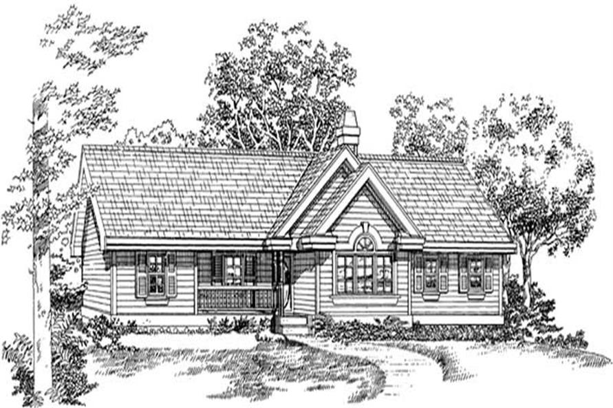 Home Plan Rendering of this 3-Bedroom,1265 Sq Ft Plan -167-1307