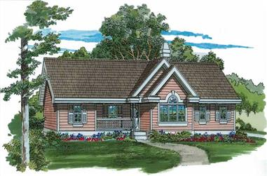 3-Bedroom, 1265 Sq Ft Ranch House Plan - 167-1307 - Front Exterior