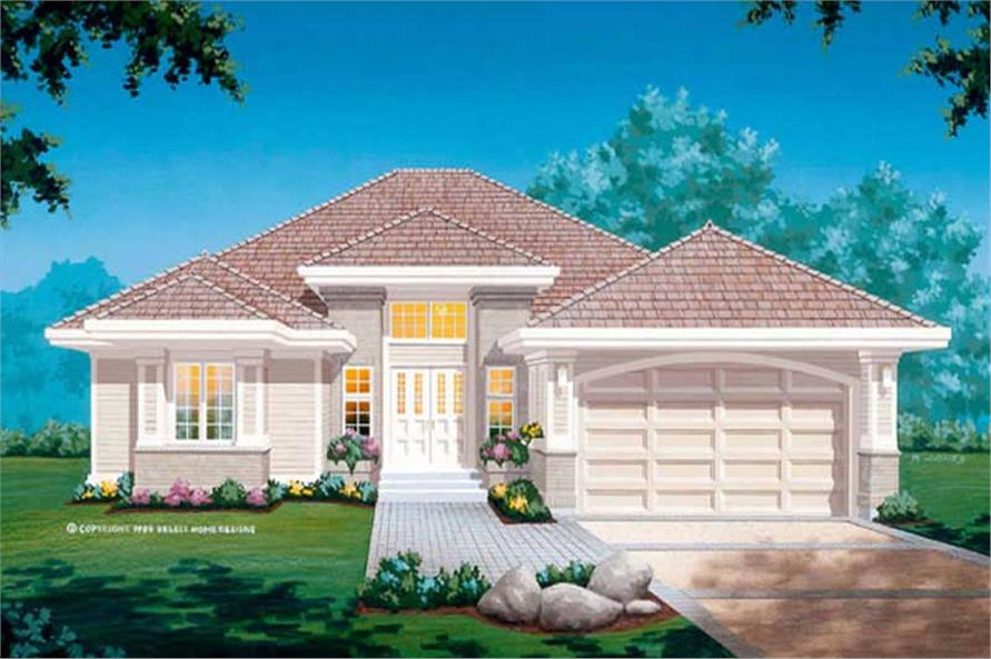3-Bedroom, 1936 Sq Ft Contemporary Home Plan - 167-1308 - Main Exterior