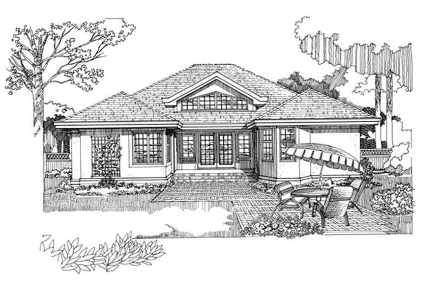 Home Plan Rendering of this 3-Bedroom,1936 Sq Ft Plan -167-1308