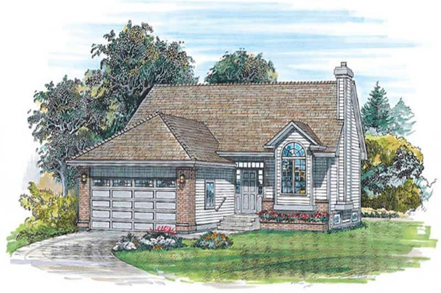 3-Bedroom, 1000 Sq Ft Small House Plans - 167-1309 - Main Exterior