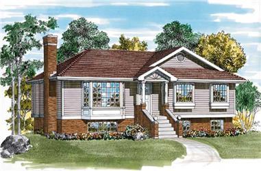 3-Bedroom, 1120 Sq Ft Ranch Home Plan - 167-1311 - Main Exterior