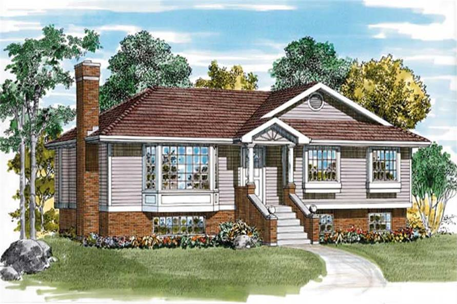3-Bedroom, 1120 Sq Ft Ranch Home Plan - 167-1311 - Main Exterior