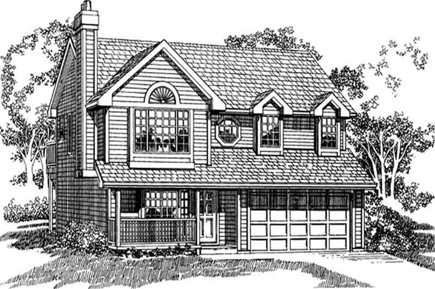 3-Bedroom, 1395 Sq Ft Country Home Plan - 167-1312 - Main Exterior