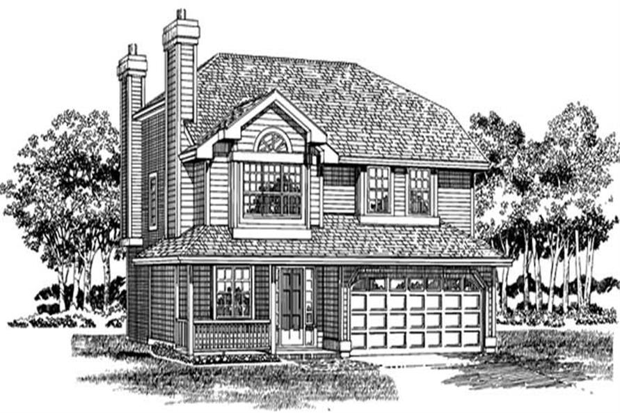 3-Bedroom, 1564 Sq Ft Country Home Plan - 167-1313 - Main Exterior