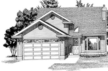 3-Bedroom, 1322 Sq Ft Small House Plans - 167-1314 - Main Exterior